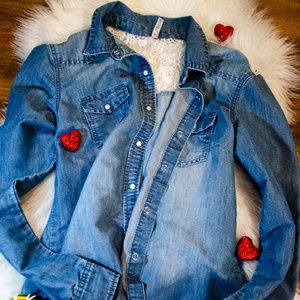 Tops - Denim Blouse / Button-Up